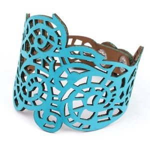 Jewelry - New!  Teal Blue Faux Leather Bracelet